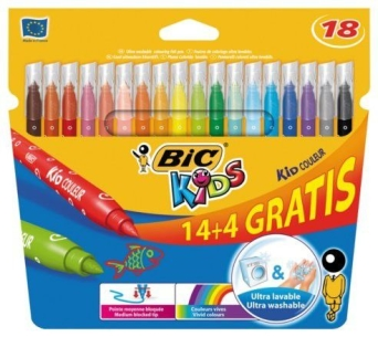 Flamastry Bic Kid Couleur  14+4 kolory