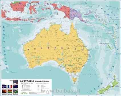 Australia 1 Strona Mapa Fizyczna 2 Strona Mapa Polityczna