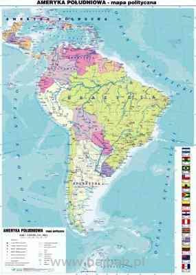 Ameryka Poludniowa 1 Strona Mapa Fizyczna 2 Strona Mapa Polityczna