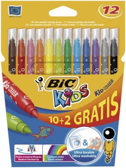 Flamastry Bic Kid Couleur  10+2 kolory