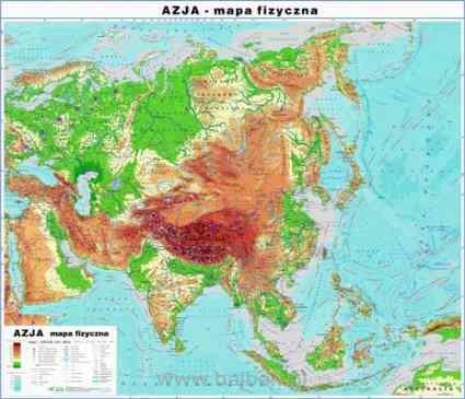 Azja 1 Strona Mapa Fizyczna 2 Strona Mapa Polityczna