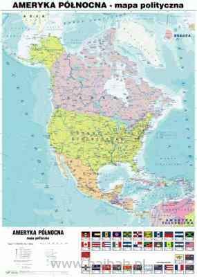 Ameryka Polnocna 1 Strona Mapa Fizyczna 2 Strona Mapa Polityczna